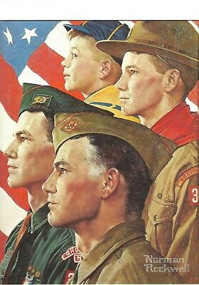 $ CDN22.69 • Buy Norman Rockwell Art Print Boy Scouts Growth Of A Leader Profiles Of A Scout