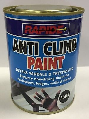 Anti Climb Paint 500ml Vandal Intruder Slippery Black Paint Aids Security  • 9.49£