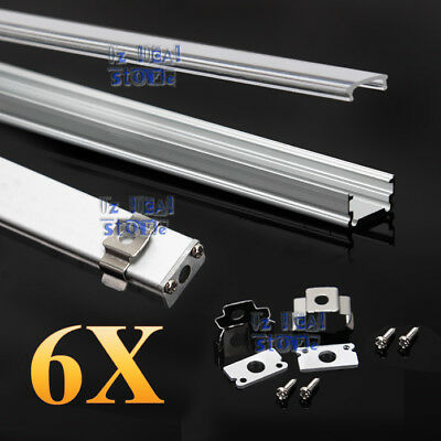 AU20.86 • Buy 6x 1M Alloy Channel Aluminum Bar Aluminum Profile For LED Strip Light With Cover