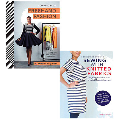 Freehand Fashion & Beginners Guide To Sewing With Knitted 2 Books Collection Set • 27.99£