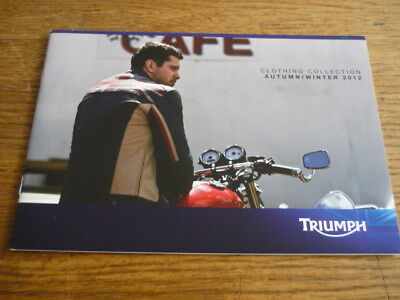 Triumph Motorbike Clothing And Accessories Brochure, 2012 • 5.99£