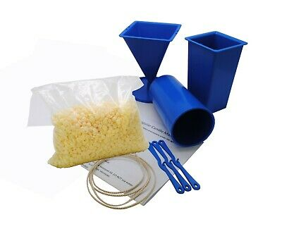 Beginner 3 Mould Candle Making Kit, Pillar, Rectangle, Pyramid, Soy Wax. S7795 • 15.99£
