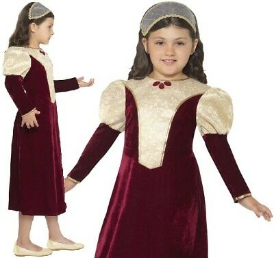 £15.99 • Buy Childrens Girls Fancy Dress Tudor Damsel Girl Costume Childs Outfit By Smiffys