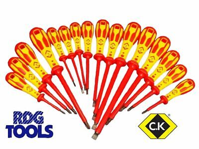CK DEXTRO Insulated VDE Screwdrivers Choose From Pozi Phillips Slotted Modulo • 6.45£