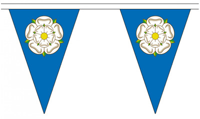 Yorkshire 20M Triangle Flag Bunting - Large 54 Flags - Triangular  • 18.77£