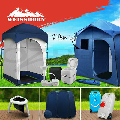 AU53.90 • Buy Weisshorn Pop Up Shower Tent Portable Toilet Water Tank Sink Outdoor Camping