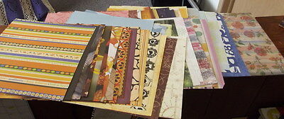 $12 • Buy 50+ Mixed Lot Of 12 X 12 Scrapbook Paper & Cardstock Including Special Papers