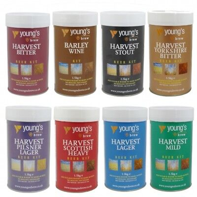 Youngs Harvest Beer Kit Selection Home Brew Beer Making Ale Lager - FULL RANGE • 21.95£