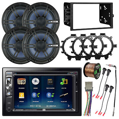 $337.49 • Buy Double DIN USB DVD Bluetooth Car Receiver, 4x 6.5  Coaxial Speakers, Accessories