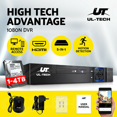 AU88.95 • Buy UL-tech CCTV Camera Security System 1080P 4CH 8CH DVR Recorder 5in1 Surveillance