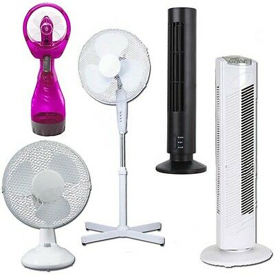 Pedestal Oscillating Stand Fan Desk Fans Electric Tower Standing Home Office • 14.95£