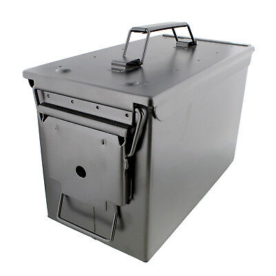 $27.99 • Buy Ammo Case – Military & Army Solid Steel Holder Box For Long-Term Ammo Storage