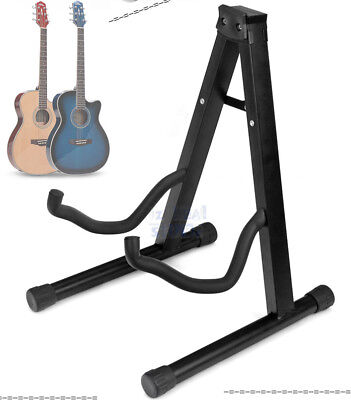AU18.25 • Buy New Folding Electric Acoustic Bass Guitar Stand Floor Rack Holder Black