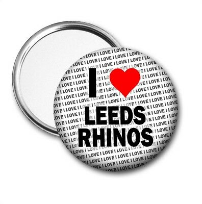 I Love Leeds Rhinos Pocket Mirror - Gift - Birthday - Stocking Filler • 3.50£