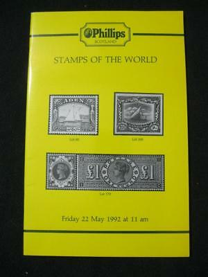 £4.99 • Buy Phillips Auction Catalogue 1992 Stamps Of The World