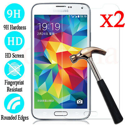 $ CDN2.72 • Buy 2PCS Tempered Glass Screen Protector Film For Samsung Galaxy S5 S6 S7 S8 S9 S10