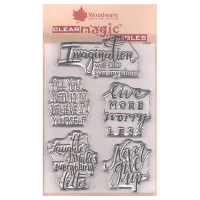 Woodware A6 Clear Cling Stamps - JGS521 Imagine Verse • 7.49£