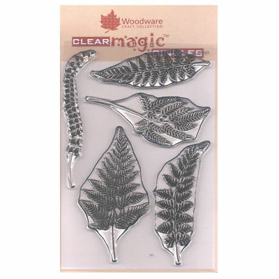 Woodware A6 Clear Cling Stamps - JGS484 Ferns • 8.25£