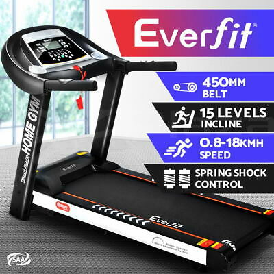 AU729.95 • Buy Everfit Treadmill Electric Auto Incline Home Gym Exercise Machine Fitness