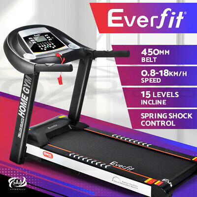 AU639.95 • Buy Everfit Electric Treadmill Auto Incline Home Gym Exercise Machine Fitness