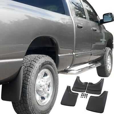 $48.95 • Buy Fits Dodge Ram Mud Flaps 02-08 Mud Guards Splash W/o Flares 4 Piece Front & Rear