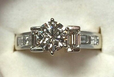 $1825 • Buy 18k Solid Gold Outstanding Ladies Diamond Engagement Ring W/ 1.50 Ct. Tcw.