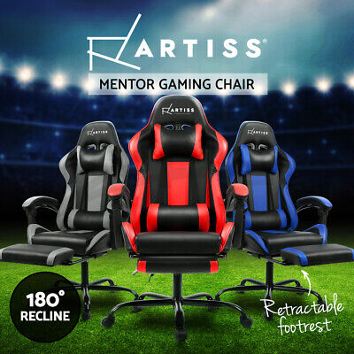 AU239 • Buy Artiss Gaming Chair Office Computer Leather Chairs Racer Executive Racing Seat