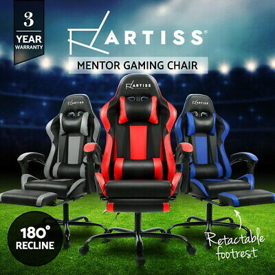 AU159.95 • Buy Artiss Gaming Chair Office Executive Computer Chairs Racing Footrest Recliner