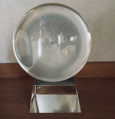 Crystal Ball On Stand 60 Mm - 200 Mm Feng Shui Wiccan Scrying Photography K9 • 11£