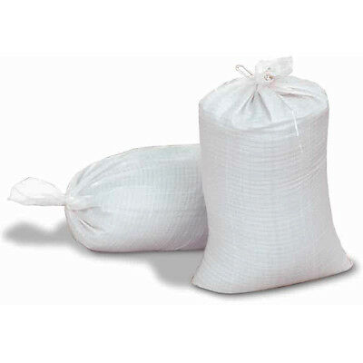 Woven Sand Bags X 10 Heavy Duty Flood Defence Barrier 80gsm Tie String 750mm • 7.25£