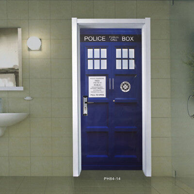 £22.39 • Buy Fathead-Style Graphic Vinyl Sticker Doctor Who Blue Wall Decal TARDIS Door Blue
