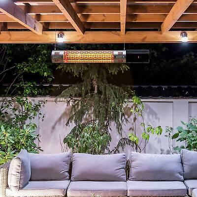 Outdoor Wall Mount Electric Halogen Heater Warmer With Remote Control Black • 61.99£