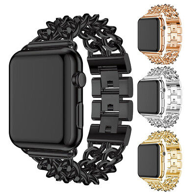 $ CDN6.71 • Buy Stainless Steel Chain Bracelet Strap Band For Apple Watch Series 3/2/1 38/42mm