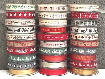 £1.49 • Buy Selection Berisfords Christmas Ribbon Craft Gift Wrapping Red Green Ribbons