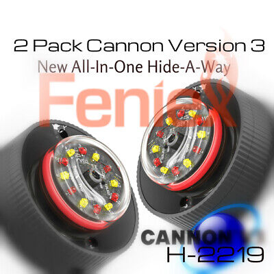 $138 • Buy 2pack V3 BLUE-WHITE NEW Feniex Cannon Hide-A-Way ALL In ONE LED Lights H-2219
