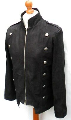 HAND MADE Mans REAL LEATHER COAT JACKET MILITARY TUNIC HUSSARS GOTH STEAMPUNK • 117.40£