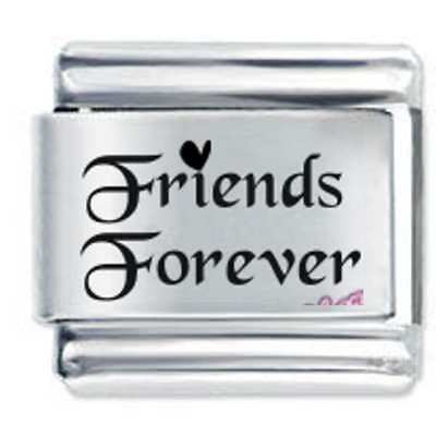 Daisy Charm - FRIENDS FOREVER *  Compatible With Italian Charm Bracelets • 3.65£