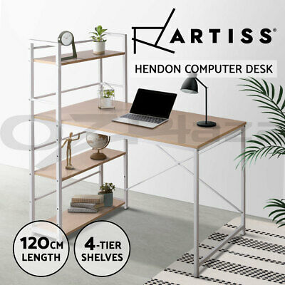 AU77.90 • Buy Artiss Computer Desk Metal Study Writing Table Student Office Drawer Cabinet