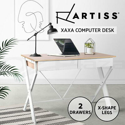 AU143.90 • Buy Artiss Computer Desk Metal Study Student Writing Office Table Drawer Cabinet