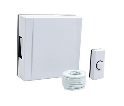 Byron Wired Door Chime And Bell Push Kit With Wire Wall Mounted - White 720  • 13.81£