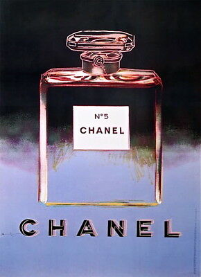 $2500 • Buy Chanel Black & Purple Offset Litho On Paper Mounted On Canvas Andy Warhol LARGE
