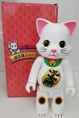 $99.99 • Buy  400% NY@brick White Japanese Lucky-Cat-Bear Medicom Brick-RARE CLONE