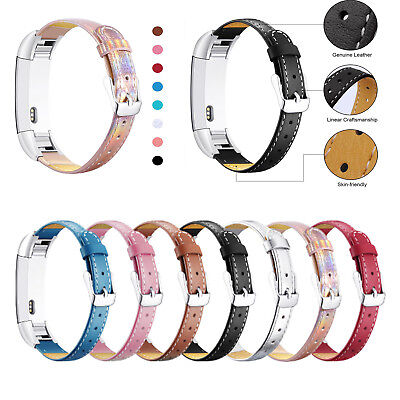$ CDN15.81 • Buy Fitbit Alta/Alta HR Beautiful Soft Genuine Leather Band With Metal Connectors US