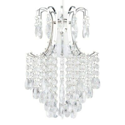 £18.99 • Buy Pendant Shade Chandelier Design Easy Fit Acrylic Jewel Droplet Ceiling LED Light
