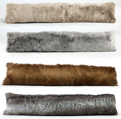 Luxury Faux Fur Draught Excluder Under Door Excluder - Single Or 2 Pack • 16.99£