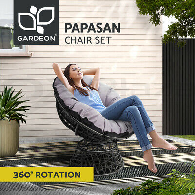 AU236.95 • Buy Gardeon Outdoor Lounge Setting Furniture Papasan Chairs Wicker Sofa Patio Garden