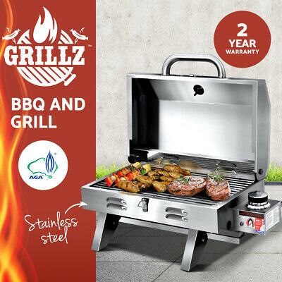 AU169 • Buy Grillz Portable Gas BBQ Grill Smoker Stainless Steel Outdoor Kitchen Camping