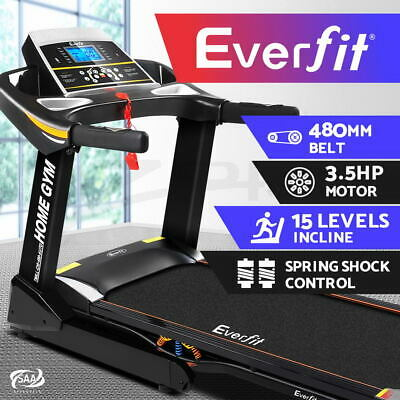 AU1159.95 • Buy Everfit Treadmill Electric Auto Incline Home Gym Exercise Machine Fitness 48cm