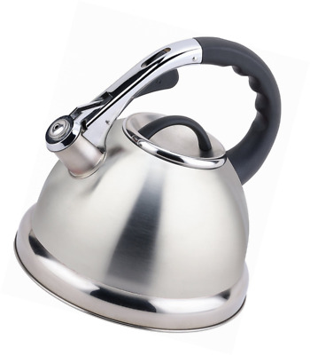 Buckingham Stainless Steel Stove Top Induction Gas Whistling Kettle 3.5 L - Matt • 19.99£