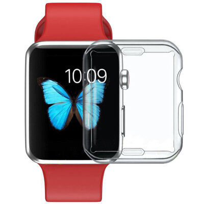 $ CDN1.47 • Buy For Apple Watch Series 3/2/1 TPU Bumper Protector Case Cover 38mm 42mm